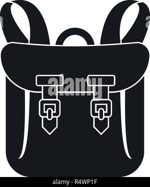 Adventure backpack icon. Simple illustration of adventure backpack vector icon for web design isolated on white background - Stock Photo