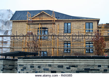 Houses being built in Maple, Ontario, Canada. - Stock Photo