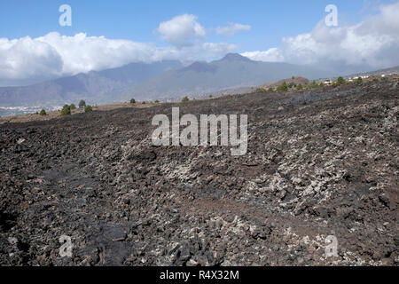 Laval Field caused by the 1971 volcanic eruption on La Palma, Canary Islands. - Stock Photo
