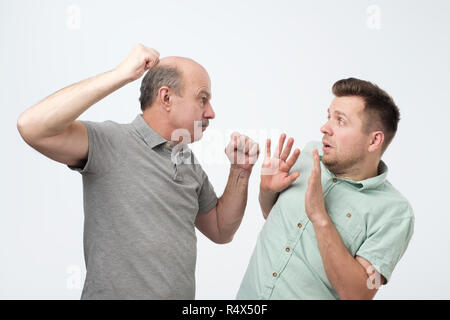 Family quarrel and disrespect to parents concept - Stock Photo