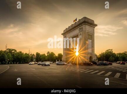 Arch of Triumph Bucharest Romania Arcul de triumf - Stock Photo