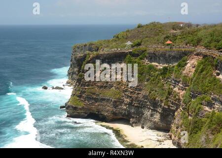 View as seen from Pura Luhur Uluwatu. Bali. Indonesia - Stock Photo