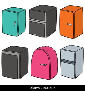 vector set of refrigerator - Stock Photo