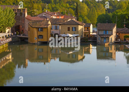 Traditional watermills in Borghetto of Valeggio sul Mincio, Verona province, Italy - Stock Photo