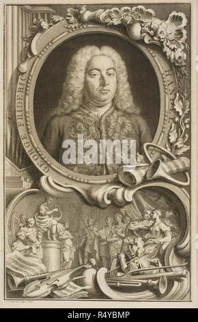 George Frederic Handel. Alexander's Feast or the Power of Musick... London : Printed for William Randall, [1769]. Handel, George Frideric, 1685-1759. Source: RM.7.f.5 frontispiece. Language: English. - Stock Photo