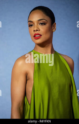 London, UK. 28th November, 2018. London, UK. 28th Nov 2018. Tessa Thompson attends the European Premiere of 'Creed II' at BFI IMAX on November 28, 2018 in London, England. Credit: Gary Mitchell, GMP Media/Alamy Live News Credit: Gary Mitchell, GMP Media/Alamy Live News - Stock Photo