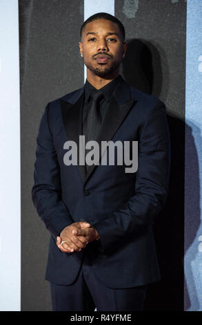 London, UK. 28th November, 2018. London, UK. 28th Nov 2018. Michael B Jordon attends the European Premiere of 'Creed II' at BFI IMAX on November 28, 2018 in London, England. Credit: Gary Mitchell, GMP Media/Alamy Live News Credit: Gary Mitchell, GMP Media/Alamy Live News - Stock Photo