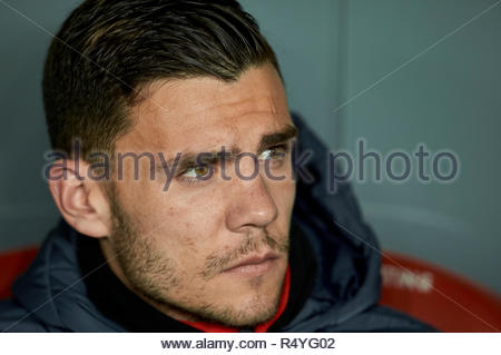 Bilbao, northern Spain, Wednesday, November, 28, 2018. (11) Alex Gallar during the Spanish Copa del Rey soccer match between Athletic Club Bilbao and S.D Huesca at San Mames stadium. Credit: Ion Alcoba Beitia/Alamy Live News - Stock Photo