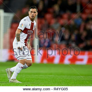 Bilbao, northern Spain, Wednesday, November, 28, 2018. (9) Cucho Hernandez during the Spanish Copa del Rey soccer match between Athletic Club Bilbao and S.D Huesca at San Mames stadium. Credit: Ion Alcoba Beitia/Alamy Live News - Stock Photo