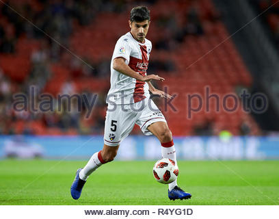 Bilbao, northern Spain, Wednesday, November, 28, 2018. (5) Juan Aguilera during the Spanish Copa del Rey soccer match between Athletic Club Bilbao and S.D Huesca at San Mames stadium. Credit: Ion Alcoba Beitia/Alamy Live News - Stock Photo