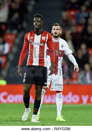 Bilbao, northern Spain, Wednesday, November, 28, 2018. (9) Inaki Williams during the Spanish Copa del Rey soccer match between Athletic Club Bilbao and S.D Huesca at San Mames stadium. Credit: Ion Alcoba Beitia/Alamy Live News - Stock Photo