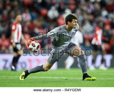 Bilbao, northern Spain, Wednesday, November, 28, 2018. (1) Axel Werner during the Spanish Copa del Rey soccer match between Athletic Club Bilbao and S.D Huesca at San Mames stadium. Credit: Ion Alcoba Beitia/Alamy Live News - Stock Photo