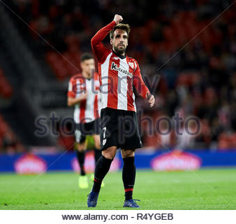 Bilbao, northern Spain, Wednesday, November, 28, 2018. (7) Benat Etxebarria celebrates goal during the Spanish Copa del Rey soccer match between Athletic Club Bilbao and S.D Huesca at San Mames stadium. Credit: Ion Alcoba Beitia/Alamy Live News - Stock Photo