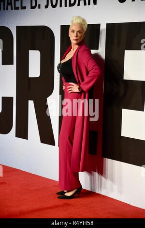 London, UK. 28th November, 2018. Brigitte Nielson,Creed II European Premiere,BFI IMAX,London.UK Credit: michael melia/Alamy Live News - Stock Photo