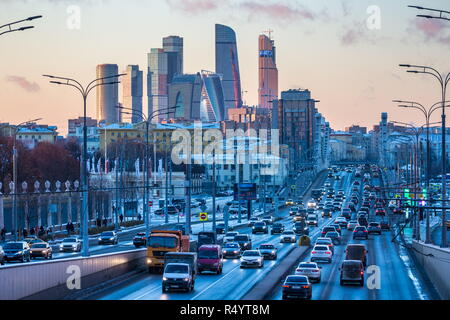 Moscow, Russia. 28th Nov, 2018. MOSCOW, RUSSIA - NOVEMBER 28, 2018: A view of the Moscow International Business Centre. Marina Lystseva/TASS Credit: ITAR-TASS News Agency/Alamy Live News - Stock Photo
