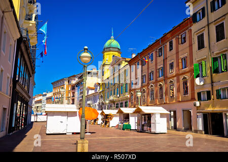 Korzo square in city of Rijeka - Stock Photo
