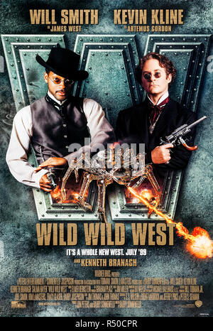 Wild Wild West (1999) directed by Barry Sonnenfeld and starring Will Smith, Kevin Kline, Kenneth Branagh and Salma Hayek. Two hired guns go after a renegade inventor trying to assassinate President Ulysses S. Grant. - Stock Photo