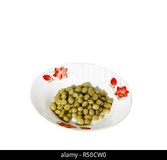 peas green vegetable bowl - Stock Photo