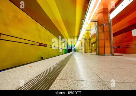 Candidplatz subway station in Munich, Germany