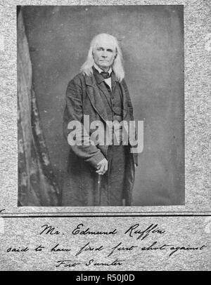 Edmund Ruffin. Fired the 1st shot in the Civil War. Killed himself at close of War, circa 1863 - Stock Photo