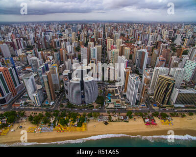 Aeria view of the city of Fortaleza, Ceará, Brazil South America. - Stock Photo