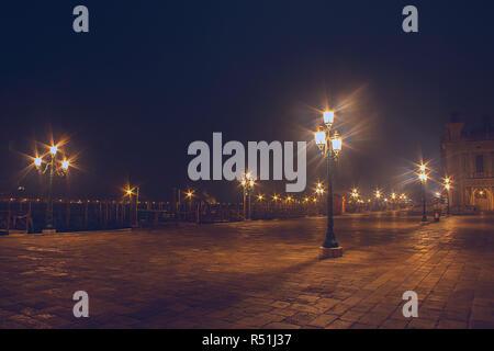 Scenic Night in Venice Italy - Stock Photo