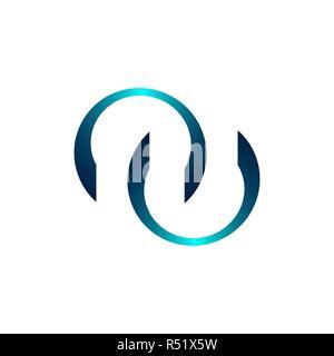 Technology orbit web rings logo design. Vector circle ring logo design. Abstract circle logo template. Round ring circle and infinity loop symbol, tec - Stock Photo