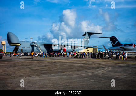 Air Show at Air Force Reserve Base. Homestead. Florida. USA. - Stock Photo