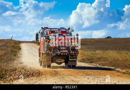 firewehrauto in outback at dubbo new soth wales australia - Stock Photo