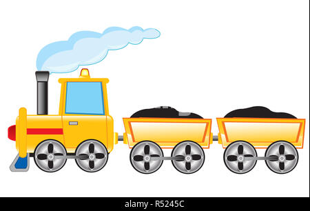 Locomotive carries cargo - Stock Photo