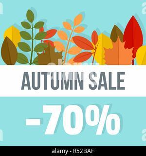 Big autumn final sale background. Flat illustration of big autumn final sale vector background for web design - Stock Photo