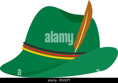 b906fd48b88 Geern Hat Icon Oktoberfest Festival Concept  German green hat icon. Flat  illustration of german green hat vector icon for web design
