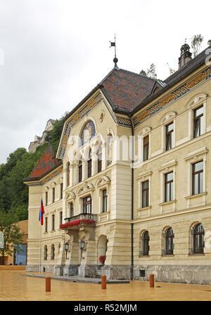 Government and parliament building in Vaduz. Principality of Liechtenstein - Stock Photo