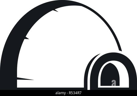 Arctic igloo icon. Simple illustration of arctic igloo vector icon for web design isolated on white background - Stock Photo