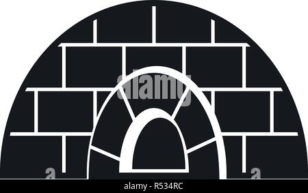 Icehouse icon. Simple illustration of icehouse vector icon for web design isolated on white background - Stock Photo