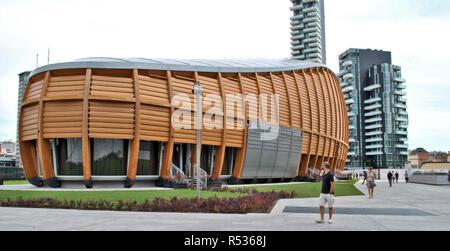The Unicredit Pavillon in Gae Aulenti square. Milan, 2015 - Stock Photo