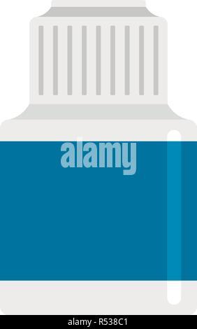 Vaping liquid bottle icon. Flat illustration of vaping liquid bottle vector icon for web design - Stock Photo