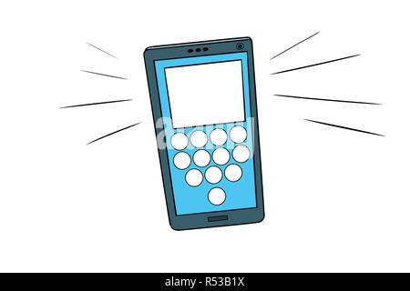 Smartphone calls, touch screen - Stock Photo