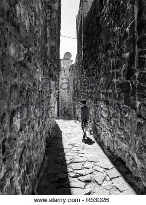 Street scenes from Mardin old city and surrounding areas. Mardin / Turkey: September 2018 by Hulki Okan Tabak. - Stock Photo
