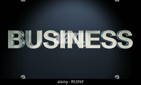 Three-dimensional business text - Stock Photo