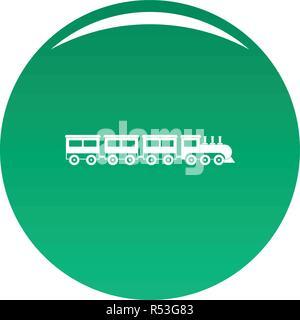 compartment train icon. Simple illustration of compartment train vector icon for any design green - Stock Photo