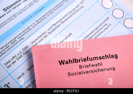 social election in germany - social election - Stock Photo