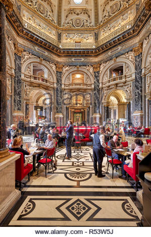 The café inside Kunsthistorisches Museum. Vienna Austria - Stock Photo