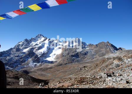The Lumba Sumba pass in Eastern Nepal - Stock Photo