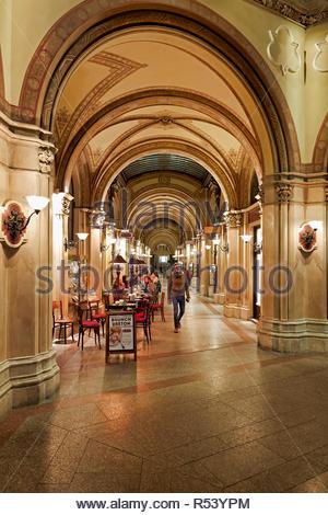 Shopping Arcade in Herrengasse. Vienna Austria - Stock Photo