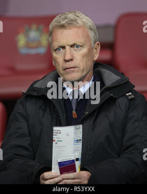 Former Everton and Manchester United manager, David Moyes in the stands during the Premier League match between Burnley and Newcastle United at Turf Moor, Burnley (Credit: MI News & Sport Ltd | Alamy News) ©MI News & Sport | Alamy - Stock Photo