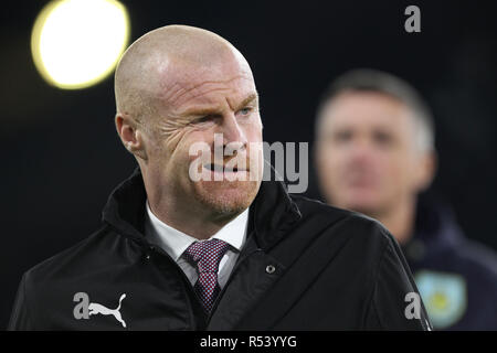Burnley manager Sean Dyche during the Premier League match between Burnley and Newcastle United at Turf Moor, Burnley on Monday 26th November 2018.(Credit: MI News & Sport Ltd | Alamy News) ©MI News & Sport | Alamy - Stock Photo