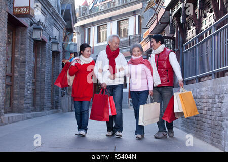 Family go shopping - Stock Photo