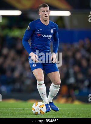 London, UK. 29th Nov, 2018. Ross BARKLEY of Chelsea during the UEFA Europa League match between Chelsea and PAOK at Stamford Bridge, London, England on 29 November 2018. Photo by Andy Rowland. Credit: Andrew Rowland/Alamy Live News - Stock Photo