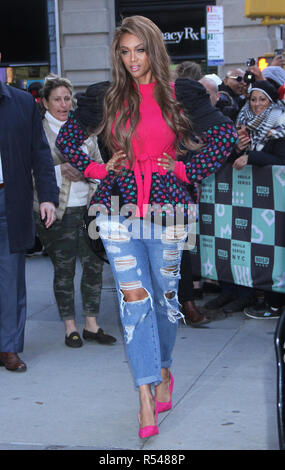 New York, NY, USA. 29th Nov, 2018. Tyra Banks at Build Series promoting her new movie Life-Size 2: A Christmas Eve on November 29, 2018 in New York City. Credit: Rw/Media Punch/Alamy Live News - Stock Photo